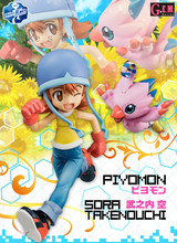Digimon action figure Adventure series digimon-movie Takenouchi and Piyomon PVC Action Figure