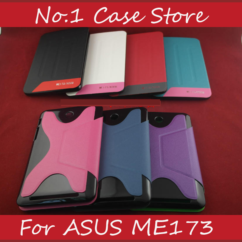 Ultra Thin Slim Leather Flip Tablets Case Cover For ASUS MeMO Pad HD 7 ME173X ME173 Tablet Cover Accessories Stand Cover(China (Mainland))