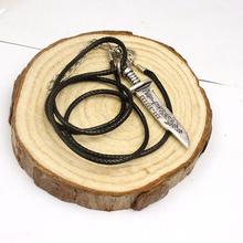 Ювелирные изделия фильм сверхъестественное кинжал дизайн веревка кожа ожерелье старинные высокое качество себе ожерелье бесплатная доставка