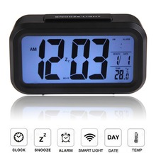 Digital Snooze Electronic Alarm Clock Despertador Watches with LED Backlight Light Calendar Control NG4S