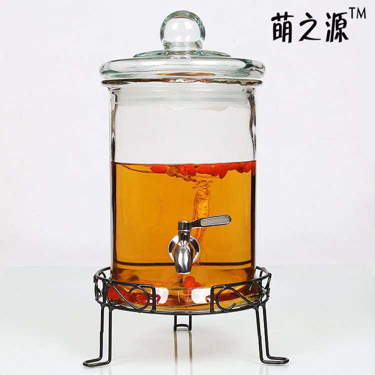 Meng source of lead-free bubble leading glass bottle with plum bayberry medicine bottle house wine fermentation tanks(China (Mainland))