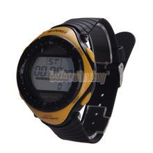 Betr Hi potencia ronda Dial Digital resistente al agua deporte reloj de la energía Solar 0405 amarillo