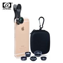 Buy APEXEL 5 1 HD Camera Lens Kit iPhone 5s/6/6s Plus case Samsung Galaxy S7/j5 xiaomi redmi 4 pro xiaomi note 3/note 4 for $11.09 in AliExpress store