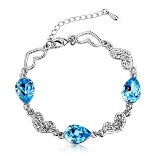 925 sterling silver bracelet female fashion jewelry Austrian Ocean Crystal bracelets & bangles - very Cheap store ^_^