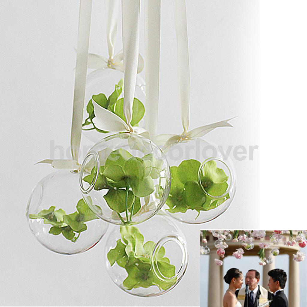hanging glass flowers planter vase bottle container home garden ball decors 10cm in flower pots. Black Bedroom Furniture Sets. Home Design Ideas