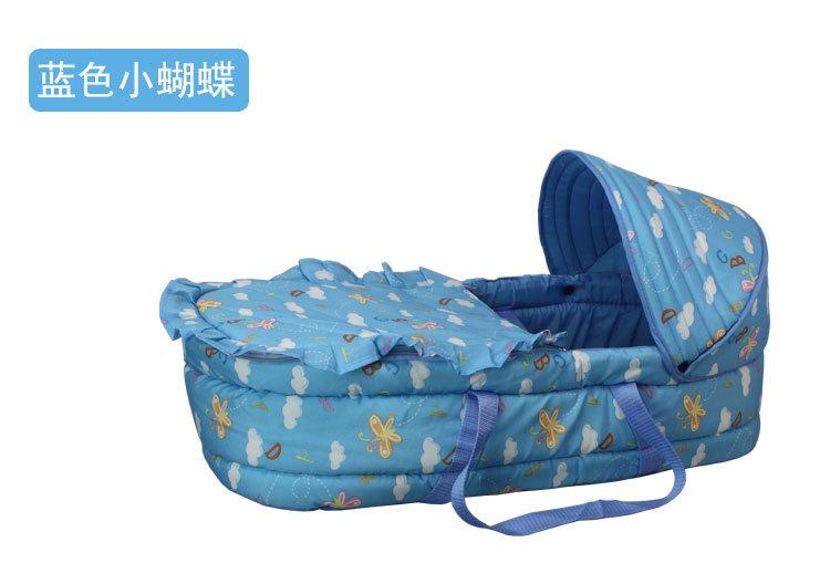 Portable Baby Sleepping Basket 74*38*18 Infant Bassinet Children Cradle Travelfor Baby,Cotton Baby Bassinet 3 Optional Colors