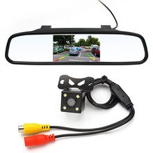 Safety Car Parking Assistance 4.3 Inch Rear View Camera HD Video CCD LED Night Vision Auto Reversing Rearview Mirror Monitor(China (Mainland))