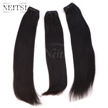Buy Neitsi 3bundle 8A Unprocessed Straight Brazilian Virgin Hair Extensions 14-28inches Natural Black Remy Human Hair Weave Bundles for $84.99 in AliExpress store
