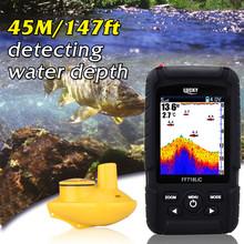 Lucky FF718Li-CW Wireless Portable Fish Finder depth sonar 45M 147Feet Sonar Alarm Waterproof Fishfinder Ocean Color Display #B0(China (Mainland))
