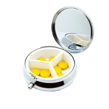 2016 New Weekly Zinc Alloy Pillbox Travel Pill Case Pill Organizer Medicine Box Drugs Pill Container(China (Mainland))