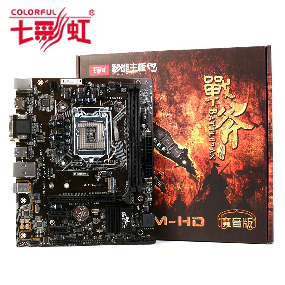Colorful Mainboard Motherboard Battle AXE C.B150M-HD V20 for Intel B150 LGA 1151 SATA 6Gb/s USB 3.0 Gaming DDR4 mATX Desktop LOL(China (Mainland))