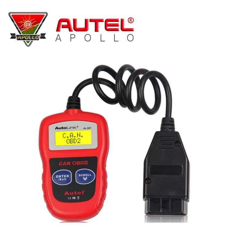 100% Original Autel AutoLink AL301 OBDII/CAN Code Reader Auto Link AL301 BRAND obd ii code reader(China (Mainland))