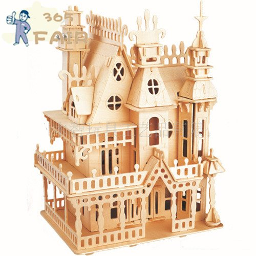 3D puzzle stereo Villa Sogno wooden Puzzles &amp; Magic Cubes fantasy woodcraft construction kit kids educational toys P2<br><br>Aliexpress