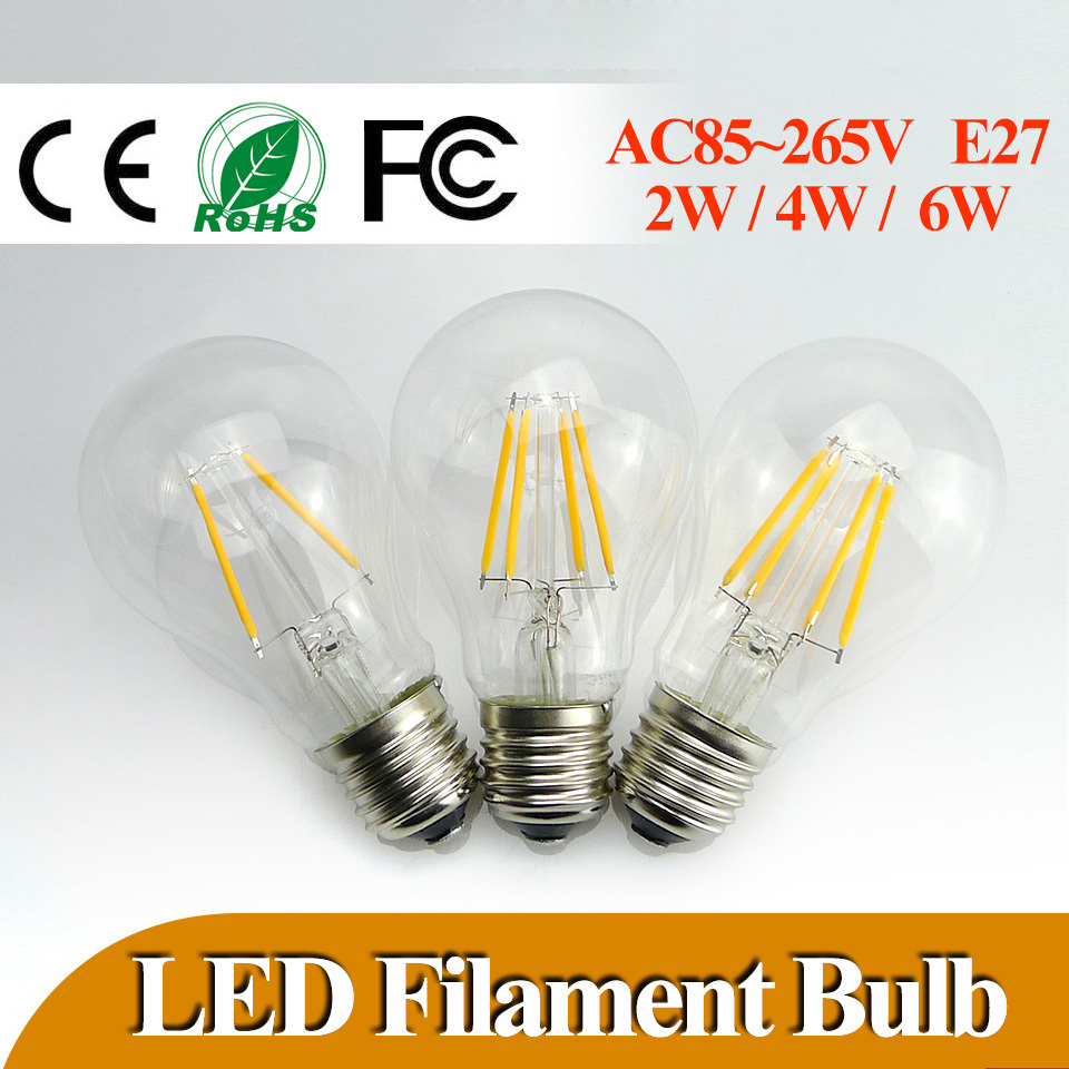 lowest price e27 led filament bulb 2w 4w 6w 360 degree bulbs 600lm warm cold white bulbs lamp. Black Bedroom Furniture Sets. Home Design Ideas