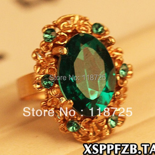 LZ Jewelry Hut R106 R107 The 2014 New Fashion Crystal And Rhinestone Adjustable Rings For Women