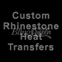 50PCS/LOT Custom Hot Fix Rhinestone Heat Transfers Hot Fix Iron On Motifs