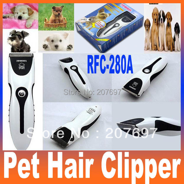 Electric Rechargeable Animal Dog Cat Pet Hair Clipper Trimmer Clipper Shaver Razor Grooming RFC-280A Free Shipping(China (Mainland))
