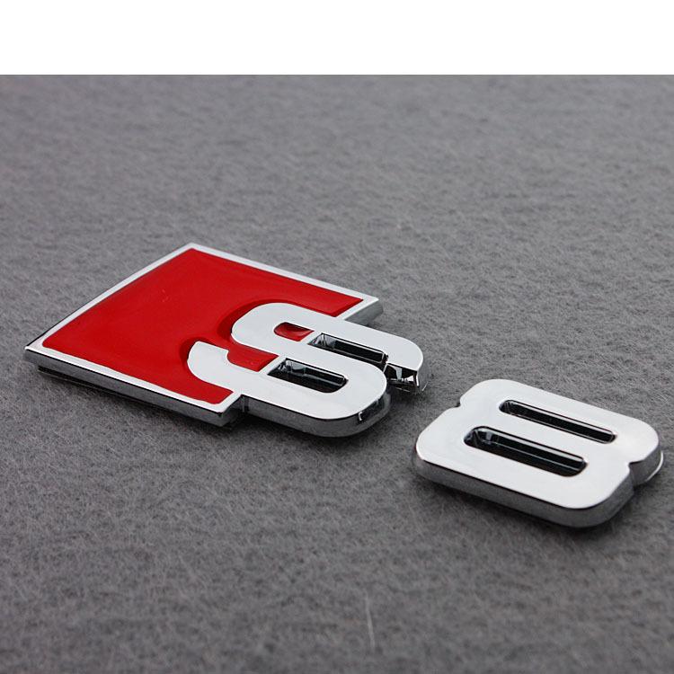 3D Aluminum Alloy S3 S4 S5 S8 S Line Car Tail Sticker Emblem Badge Logo Metal