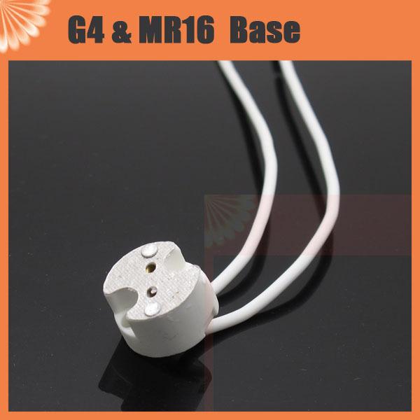 1pcs White Ceramic Halogen LED Lamp Light Bulb MR16 G4 mr11 g5.3 g6.35 Socket holder Base(China (Mainland))