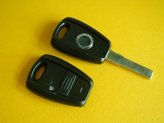 1 Button Replacment Remote Key Shell Case For Fiat In black Fob Blank Car Cover 10PCS/lot(China (Mainland))