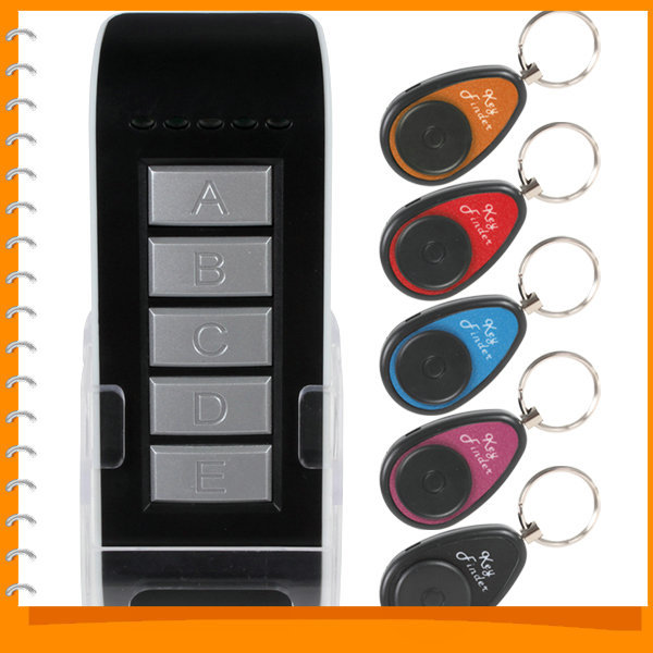 5CH Wireless Remote Key Finder Locator Keychain Electronic Anti-lost 5 in 1 Key Finder Keyfinder 1 Transmitter + 5 Receivers(China (Mainland))