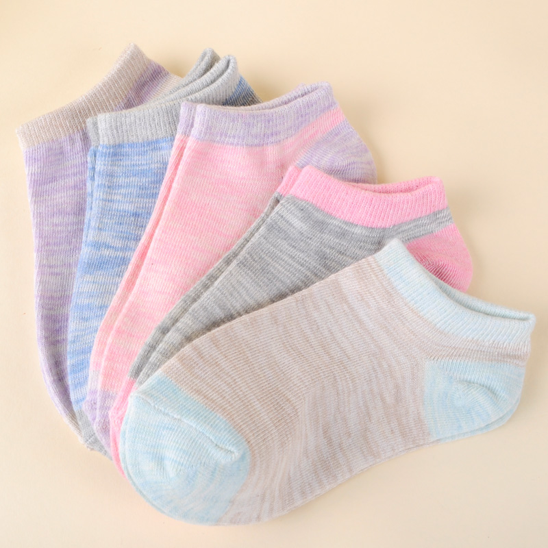 Japanese Harajuku Slub Cotton Women Ankle Socks Simple And Refreshing Mixed Colors Boat Sock Summer Sport Thin Short Female Sox(China (Mainland))