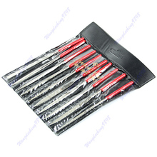 Set 10pcs 140mm Needle Files Jeweler Diamond Carving Craft Tool Metal Glass Stone Free Shipping