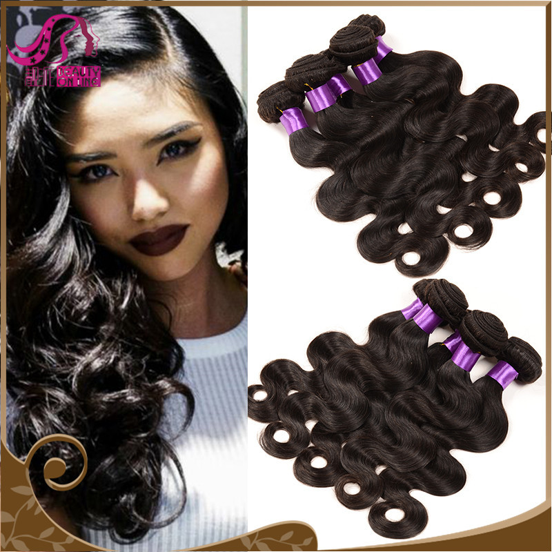 Mocha Hair Brazilian Body Wave Remy Human Hair 3Pcs/Lot, Brazilian Virgin Hair Body Wave Length 8