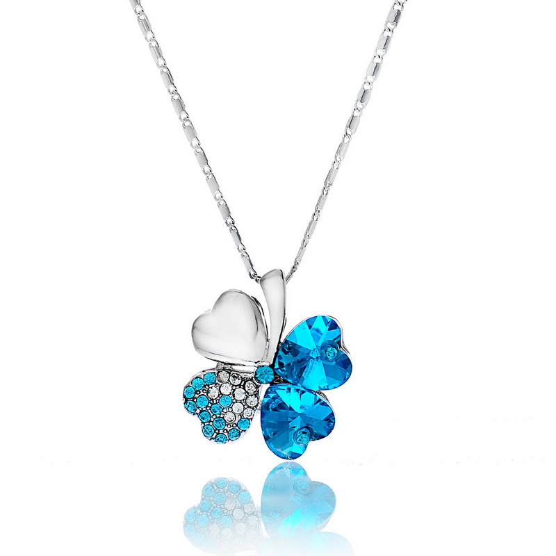 1PC New Design Women Fashion Jewelry Clover Necklace 41.5cm (Over $110 Free Express)(China (Mainland))