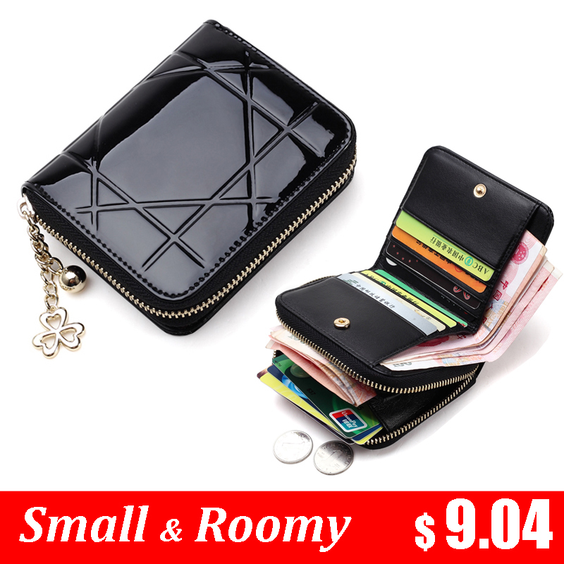 Patent Leather Women Short Wallets Ladies Small Wallet Zipper Roomy Coin Purse Female Credit Card Wallet Purses Money Bag 5012(China (Mainland))