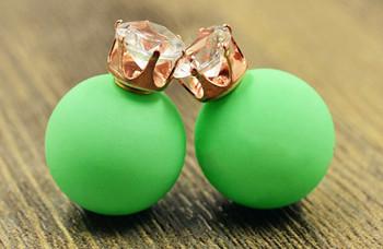 Matte Pearl Stud Earrings