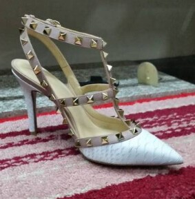 ซื้อ ขนาดที่ขายดีที่สุด34-40 #7สีส้นสูงปั๊มเซ็กซี่จระเข้ผิวหนังแท้รองเท้าจุดนิ้วเท้ารองเท้าแฟชั่นML2284