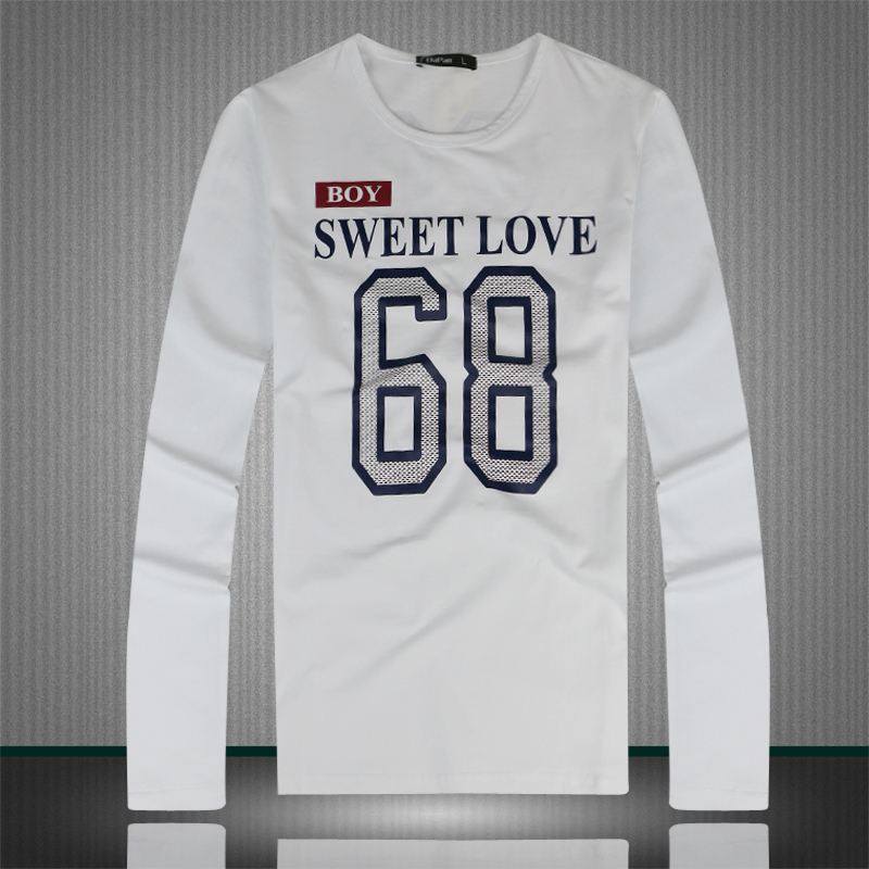 2015 fashion brand casual tshirt 68 number sweet love for Love notes brand shirt