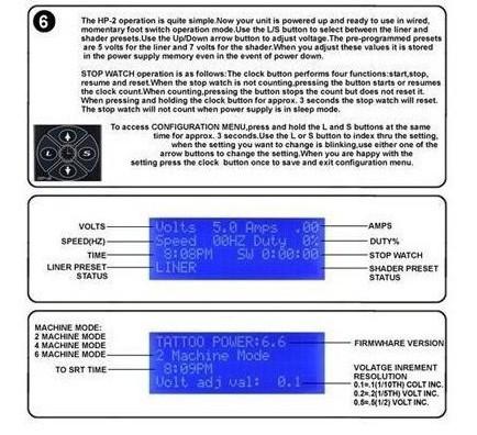 משלוח חינם מקצועי הוריקן דיגיטלי כפול שחור קעקוע אספקת חשמל