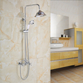 Wholesale and Retail Chrome Finish Wall Mounted Bathroom Shower Faucet with Rainfall Shower Head