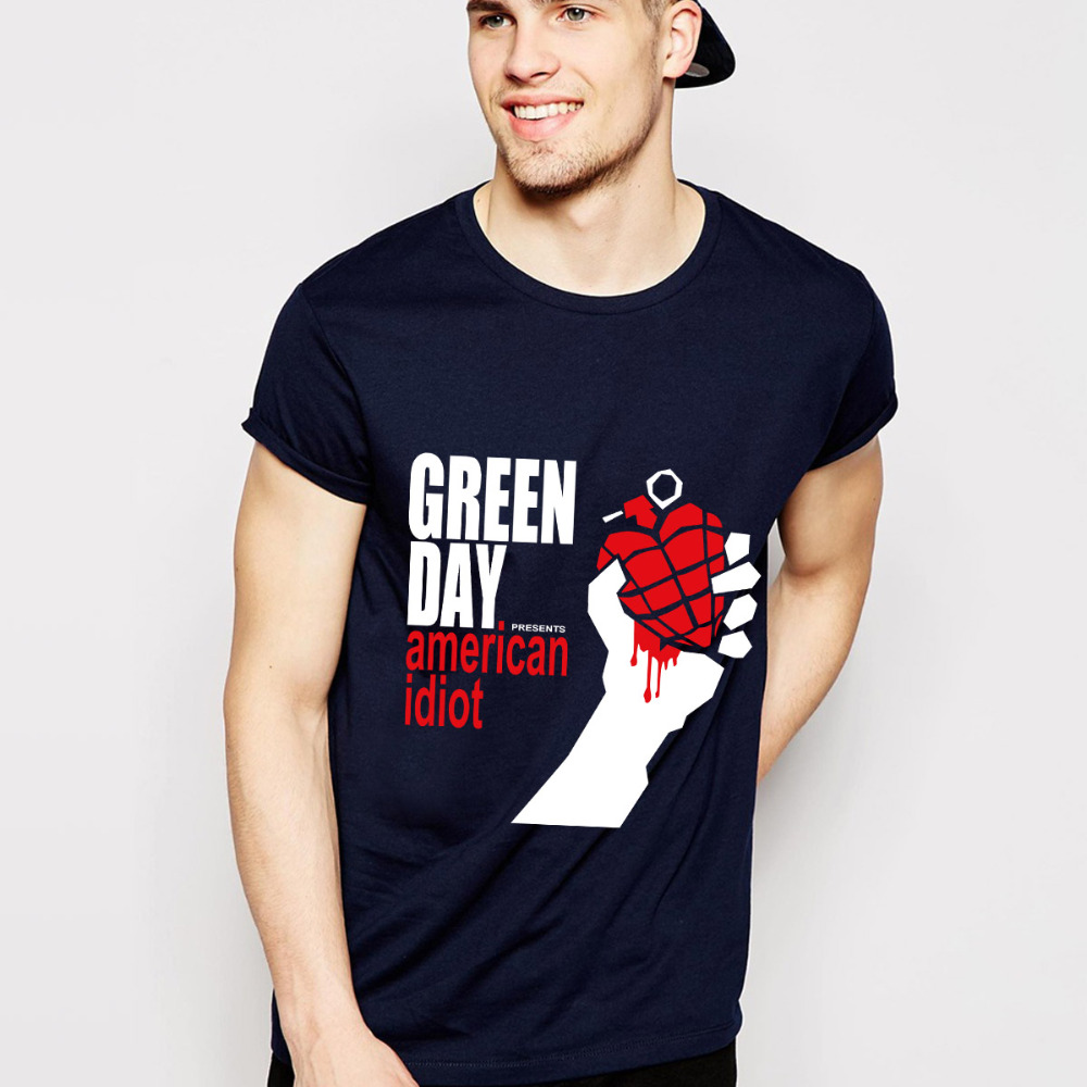 Green Day T Shirts Men O Neck Cross Fit Me Against Myself Mens Tees Cotton Short Sleeves Man t shirt Euro Size Free Shipping(China (Mainland))