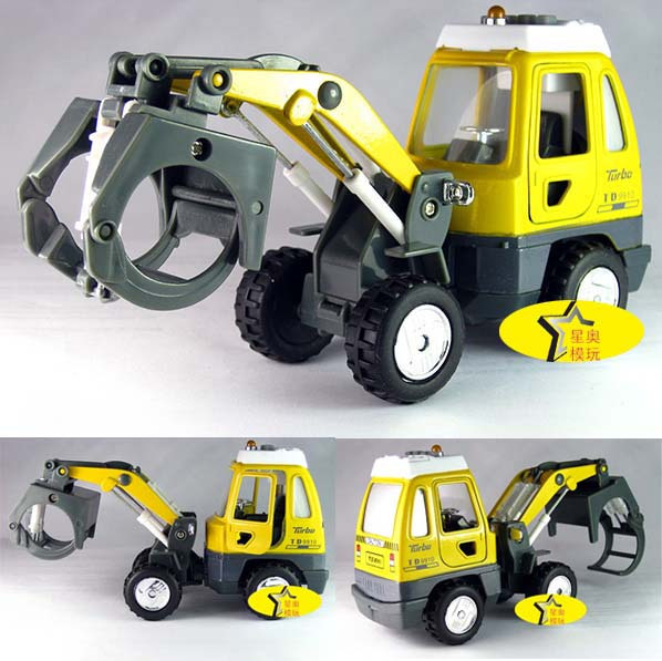 Engineering car truck alloy car model toy plain
