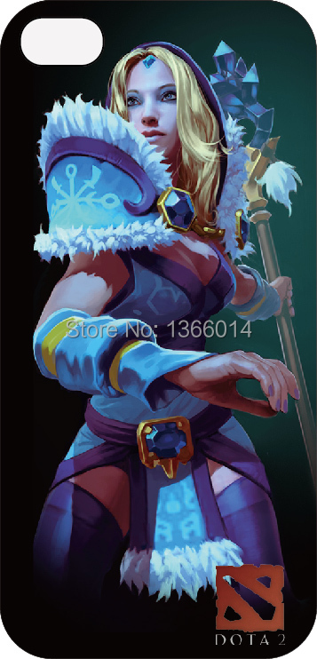 Dota 2 hero Crystal Maiden CM case cover PC hard iphone 4S/5S/5C 1 piece - Factory Outlet cell phone Cases store