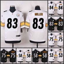 HOT Elite men Pittsburgh Steelers Antonio Brown Miller Joe Greene Jack Lambert Maurkice Pouncey Ryan Shazier Troy Polamalu D-4(China (Mainland))