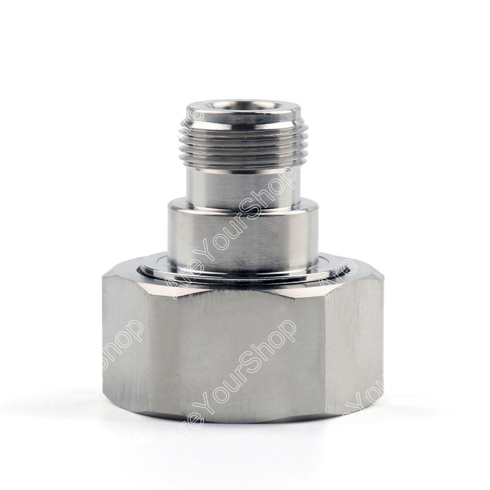 Sale Mini Jack Plug 1Pc Adapter 7 / 16 DIN Plug Male To N Female Jack RF Connector Straight M/F Wire Connector PTFE<br><br>Aliexpress