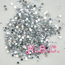 1000 pcs New SIlver Crystal 3D Nail Art Tips Decorations Crystal Glitter Wheel Rhinestones & Decorations For Nails(China (Mainland))