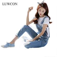 2015 New Womens Jumpsuit Denim Overalls Casual Skinny Girls Pants Jeans Plus size
