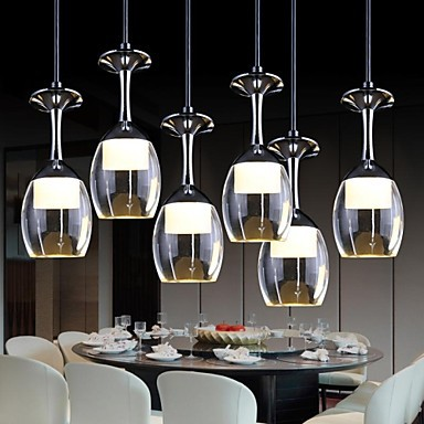 3wx6 led cup wineglass modern led pendant light lamp with