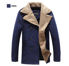 nwe men coats winter fashion 2014 hot sale warm winter coat men with long coat men double-breasted wool coat men and peacoat red(China (Mainland))