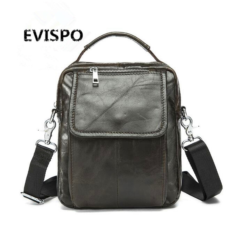 2016 EVISPO Famous Brand Classic Design Leather Mens Messenger Bags Promotional Casual Business Man Bags Shoulder Bag Briefcase(China (Mainland))