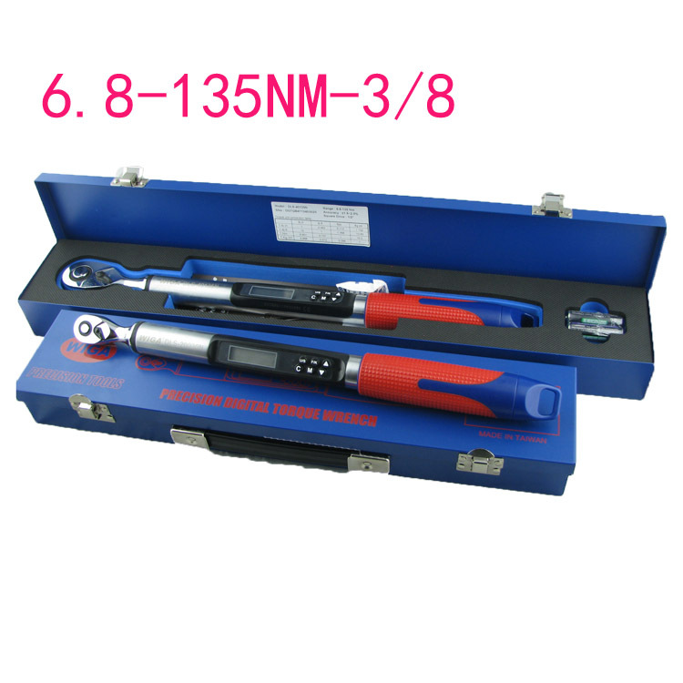 Taiwan manufacture of high-precision digital torque wrench ratchet head socket torque 3/8 head 6.8-135NM adjustable torque