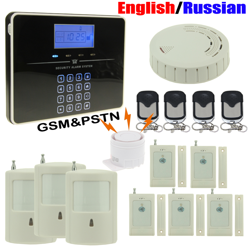 DIY Alarm System G33 Wireless GSM&PSTN Security Inturder Alarm System Touch Keypad English/Russian DHL Shipping(China (Mainland))