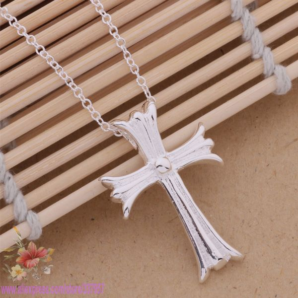 Wholesale New Arrival Sterling Silver Cross Necklace Pendant Fashion 925 Sterling Silver 925 Jewelry crucifixo(China (Mainland))