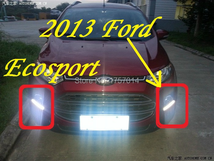 2013 Ecosport LED daytime running light  2pcs/set+wire of harness10W 12V,6500K;Free ship,<br><br>Aliexpress