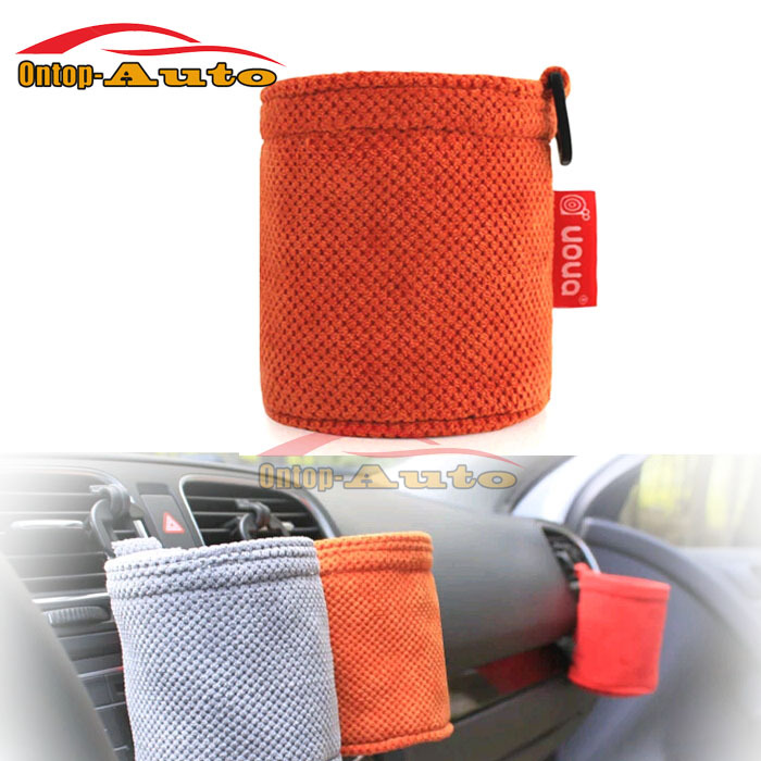 Auto Car Interior Accessories Organizer Cylinder Hanging Bag Drinks Phone Key Pen Storage Pouch Holders(China (Mainland))